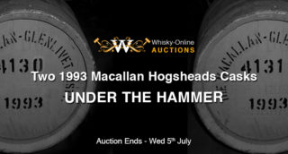 Two 1993 Macallan Hogsheads Casks - under the hammer
